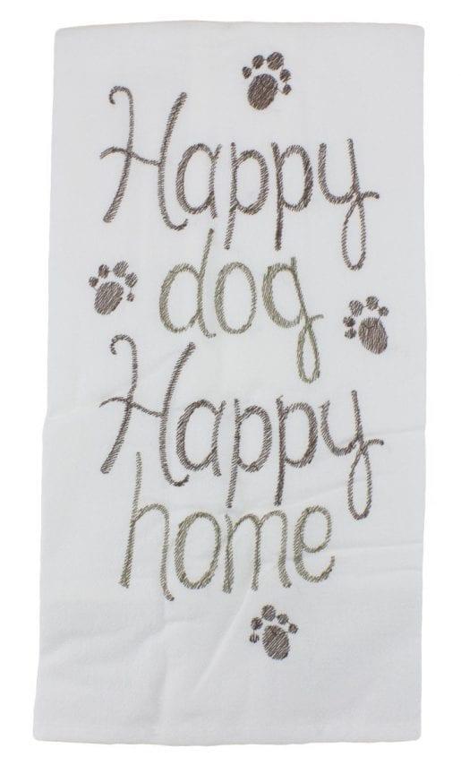happy dog towel