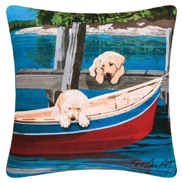 puppies canoe pillow